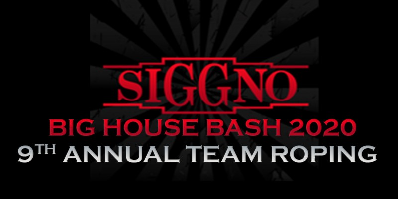 Siggno Big House Bash 2020 9th Annual Team Roping, November 27-28, 2020 at the Richard M. Borchard Regional Fairgrounds!
