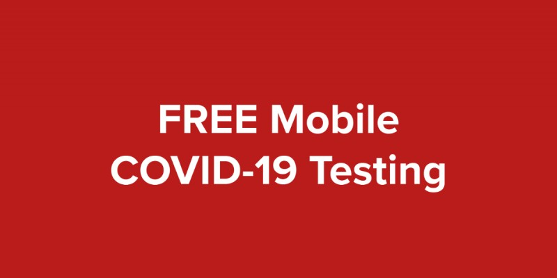 FREE Mobile COVID-19 testing will be held at the Richard M. Borchard Regional Fairgrounds in Robstown, TX from October 14-16, 2020.