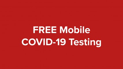 FREE Mobile COVID-19 testing will be held at the Richard M. Borchard Regional Fairgrounds in Robstown, TX from October 21-23, 2020.