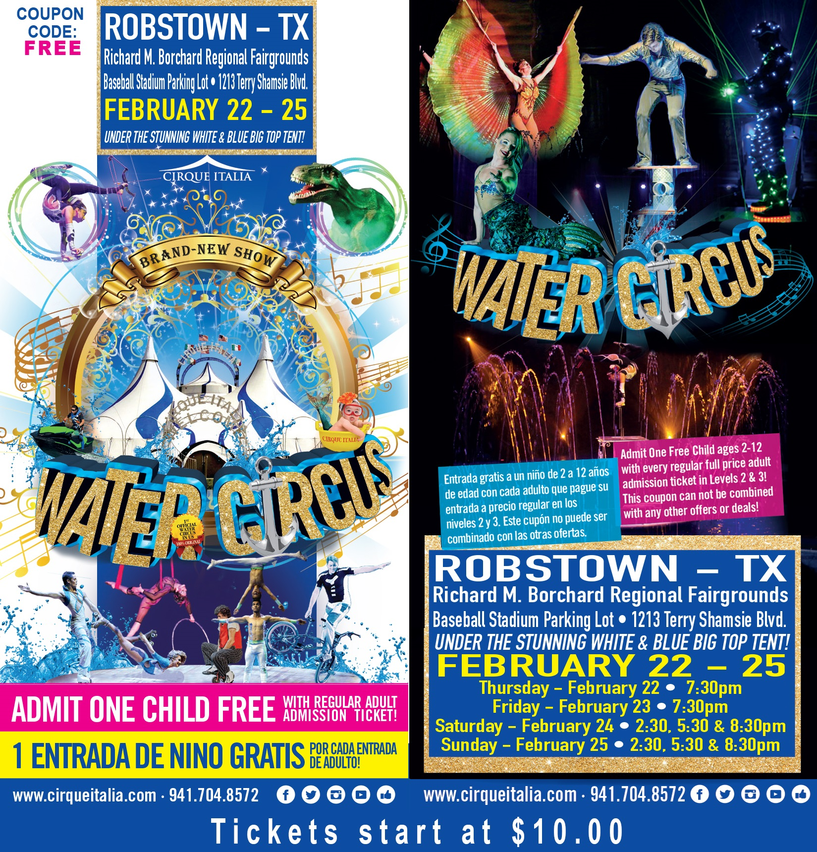 Events: Cirque Italia Water Circus